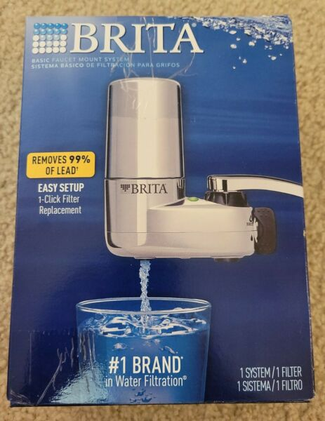 Brita Faucet Mount Tap Water Filtration System in Chrome BPA Free Reduces Lead