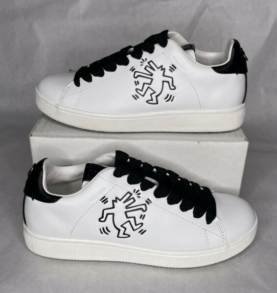 RARE Coach x Keith Haring Dancing Dog Leather Shoes G2242 White Men#x27;s Size 7.5 $100.00