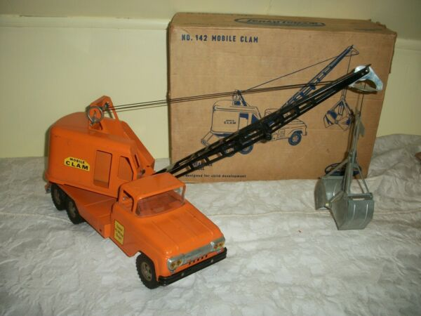 hiwaydept tonka in box 1961 clam truck original toy and box complete toy $599.99