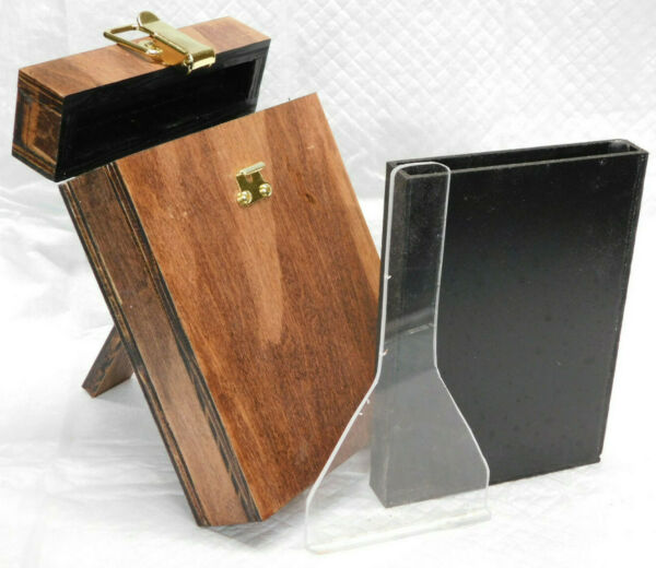 Wet Plate Collodion 4x5 Tank w Insert and Dipper Wood Brass $79.00