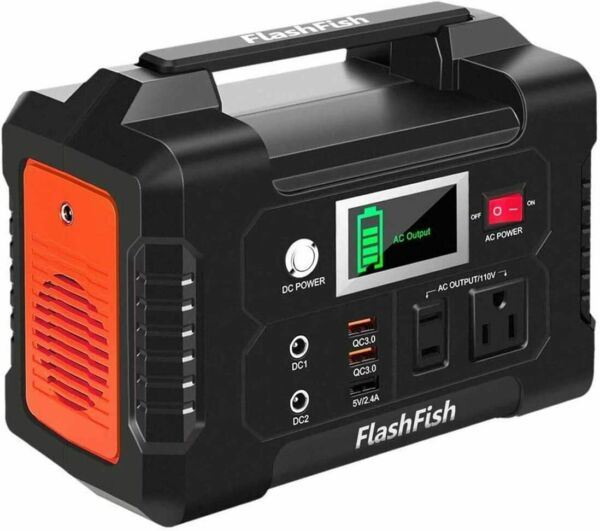 FlashFish 200W Portable Power Station 40800mAh with 110V AC Outlet $102.99