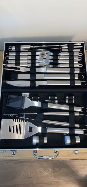 BBQ Grill Set. 28pcs Stainless Steel Grilling Toolsamp;Carrying Bag