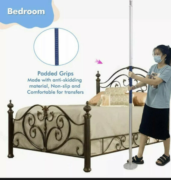 Transfer Pole Security Grab Bar Floor to Ceiling Pole Handicap Bed Assist Bar $169.99