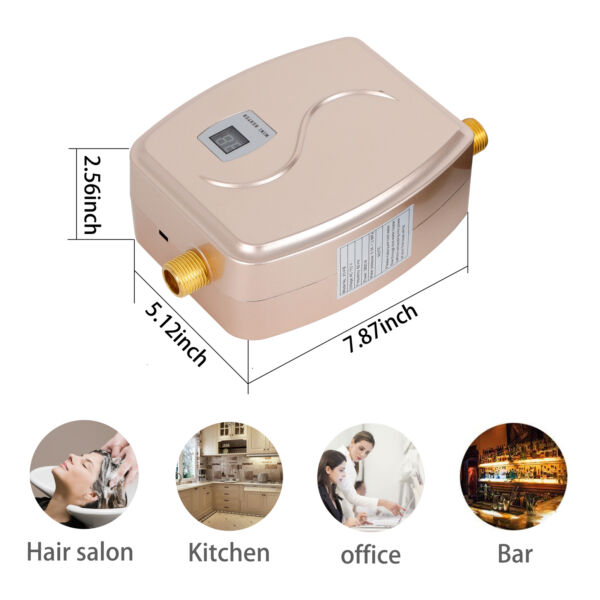 110V Mini Instant Electric Tankless Hot Water Heater Boiler Shower Kitchen 3000W $57.00