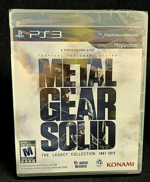 Metal Gear Solid: The Legacy Collection 1987 2012 PS3 2013 $22.99