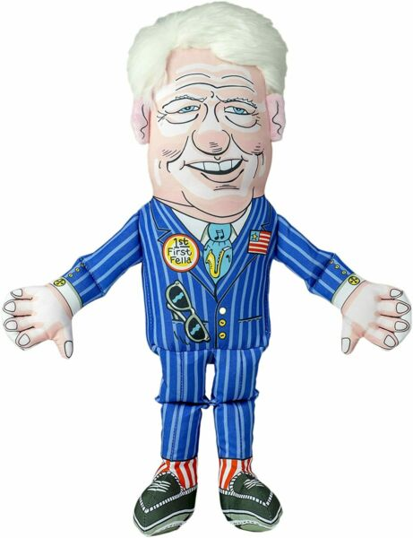 FUZZU Bill Clinton Political Parody Novelty Durable Dog Chew Toy with Squeaker L $9.99