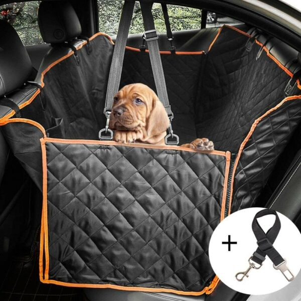 2 IN 1 DOG PROTECTOR WATERPROOF CAR REAR BACKSEAT COVER DOG BOOTSTER PET CARRIER $39.00