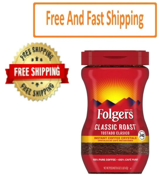 Folgers Classic Roast Instant Coffee Crystals 16 oz. $10.87