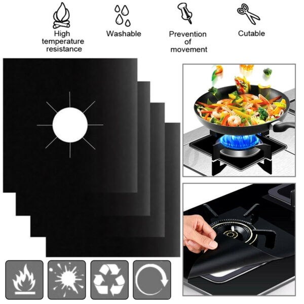 Gas Range Stove Top Burner Cover Protector Reusable Liner Clean Cook Non stick $8.95