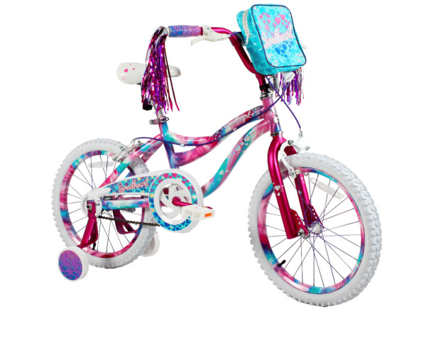 18quot; Kids Bike Girls Adjustable Training Wheels Bicycle Dipped Paint Soft Seat $147.99