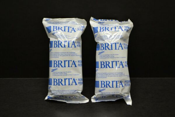 2 Genuine Brita Pitcher Replacement Water Filters New Sealed Free Shipping
