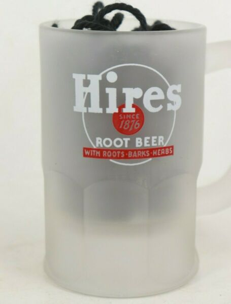 Hires root beer frosted mug soda pop fountain drink glass 4 1 2quot; Barks Herbs