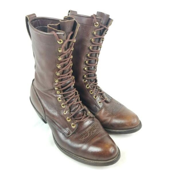 Whites Explorer Brown Leather Packer Logger Woodland Lace Boots Mens 11 E WIDE