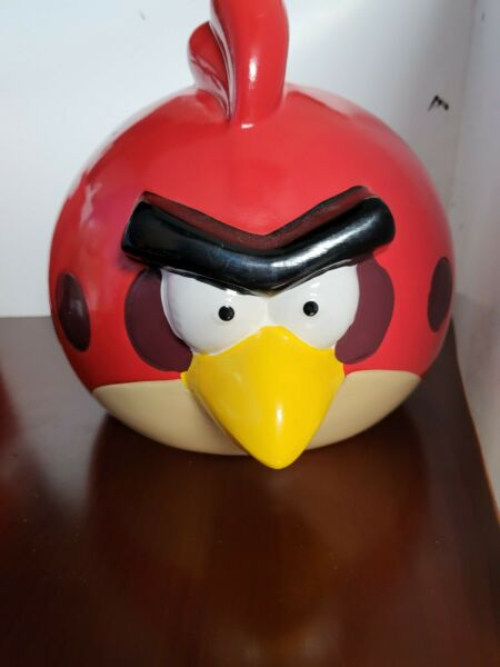 Angry Birds Red Ceramic Piggy Bank With Stopper $17.99