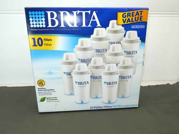 New Brita Replacement Water Pitcher Filters 10 Pack #766229