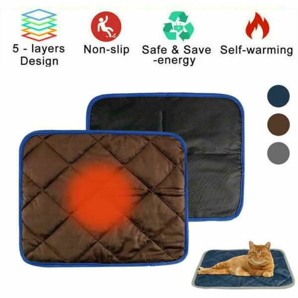 Thermal Mat Self Warming Heating Pad for Pets Cat and Dog Bed Grooming Glove $11.68