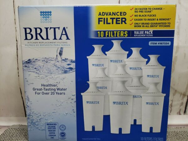 Brita Pitcher Replacement Filters 10 Pack 987554