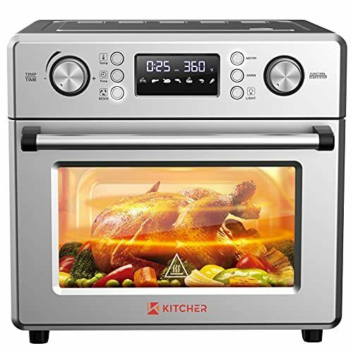 KITCHER 26.5QT Air Fryer Oven Countertop Toaster Oven 6 Slice Convection Ovens