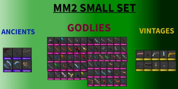 Roblox MM2 Small Set EVERY GODLY VINTAGE PET AND ANCIENT IN THE GAME READ DES $8.00