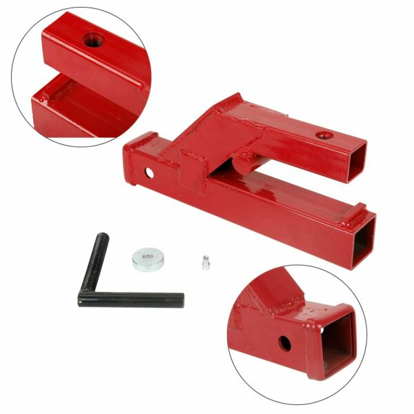 Clamp On Trailer Hitch 2quot; Ball Mount Receiver Deere Bobcat Tractor Bucket Red $54.16