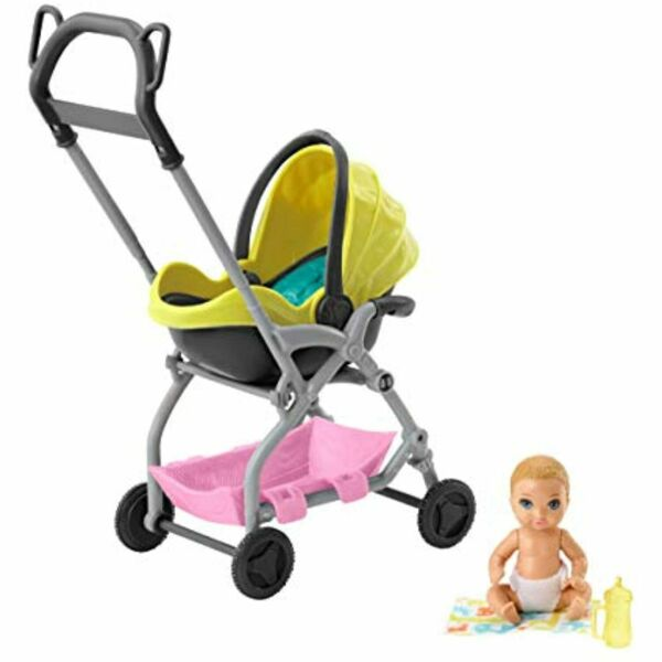 Barbie Skipper Babysitters Inc. Doll and Playset Small Baby Doll with Yellow