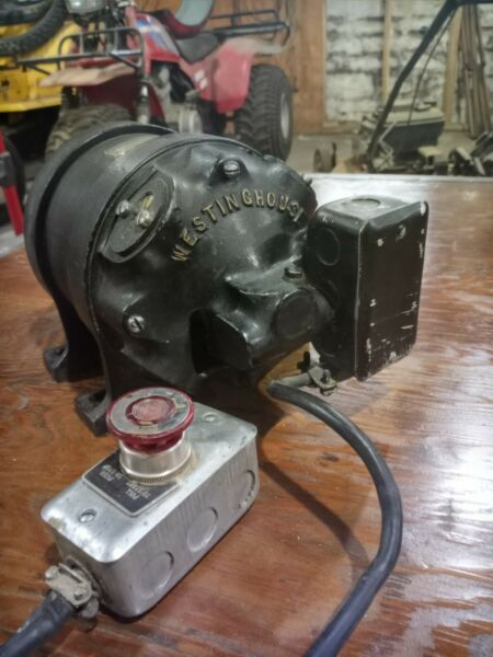 Antique Westinghouse 1 3hp Electric Motor $175.00