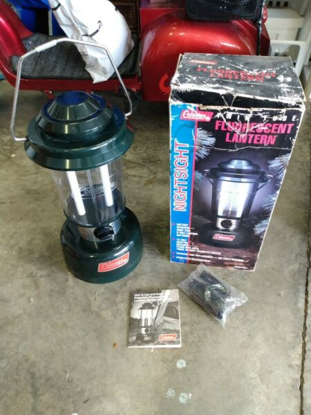 Coleman Electric Lantern Model 5355A700 Twin Tube Fluorescent $29.99
