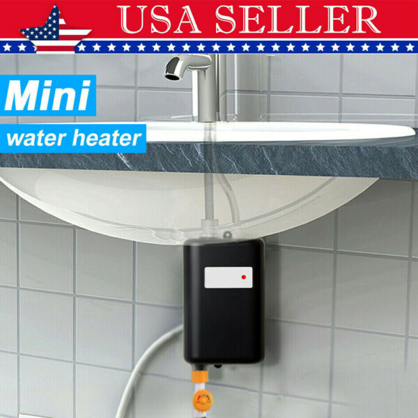 3000W Electric Tankless Instant Hot Water Heater Under Sink Tap Bathroom Kitchen $49.92