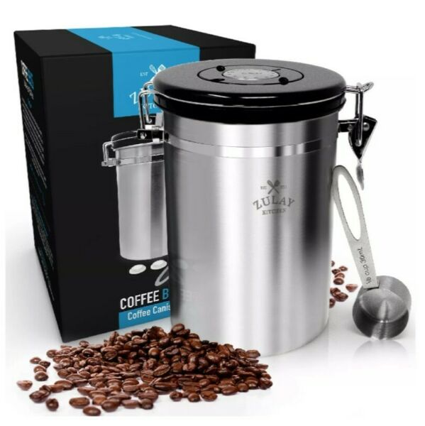 22.5 oz Coffee Storage Container w Stainless Steel Scoop