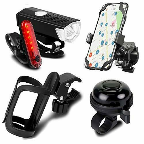 5 Pack Bicycle Accessories Bike Light Set USB Rechargeable 1 Bike Water $42.87