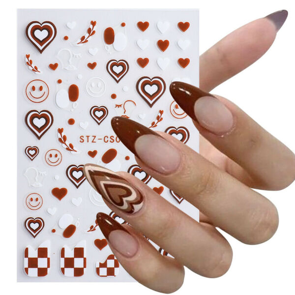 Drawing Pattern Nail Stickers Waterproof Nail Art Design DIY Decals Easy Use $1.79
