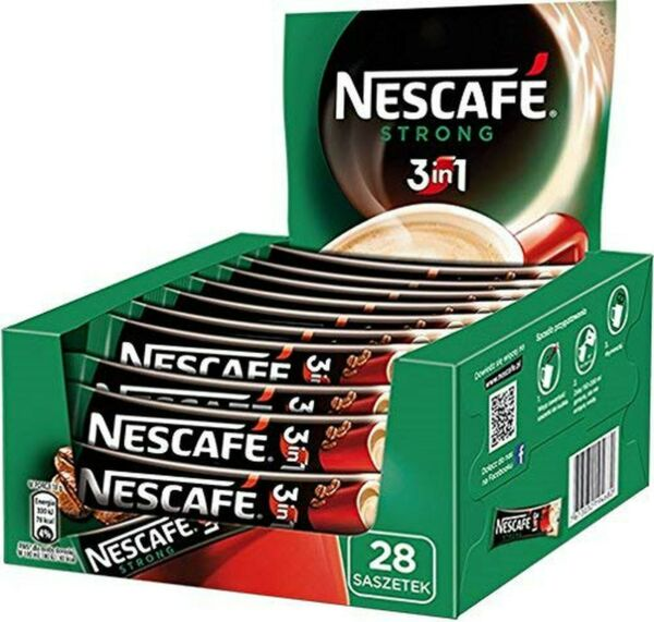 Nescafe 3 in 1 Strong Instant Coffee Single Packets 28x18g $15.71