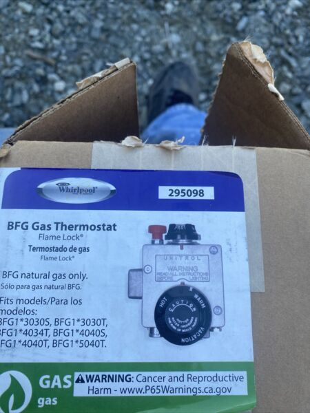 Whirlpool 295098 BFG Gas Thermostat Flame Lock $35.00