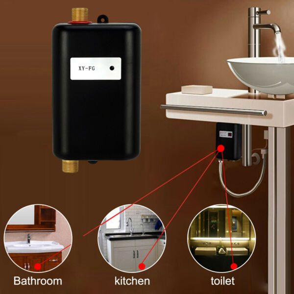 3800W Electric Water Heater Tankless Instant Hot Water Shower System Kitchen $71.99