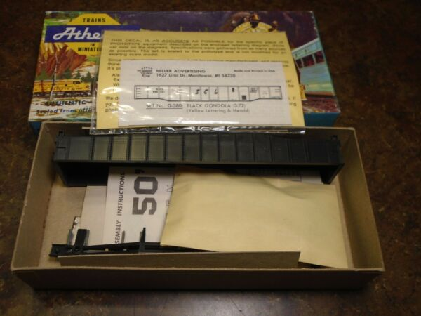Athearn HO Undecorated Gondola Car w SCL Decals $12.00