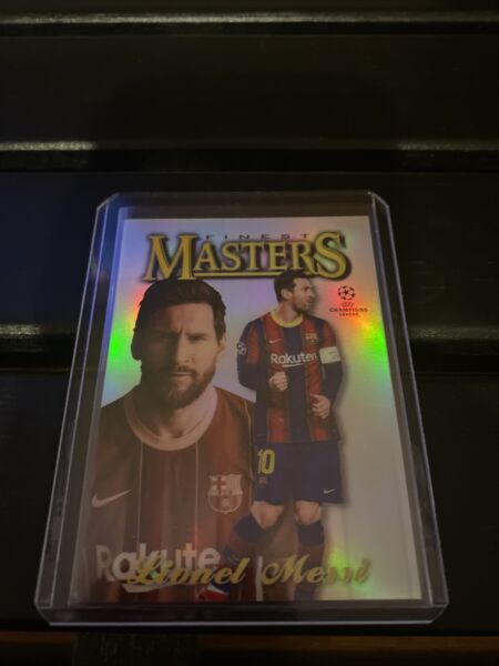 LEONEL MESSI 2021 TOPPS FINEST UEFA CHAMPIONS LEAGUE FINEST MASTERS #97F LM