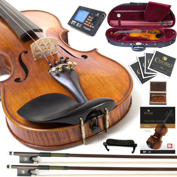 CECILIO CVN-700 1-Pc High Flamed Fully Setup 4/4 VIOLIN