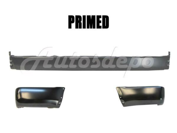 For 96-98 4Runner Rear Bumper Center Bar Extension End Black With Flare Hole 3Pc