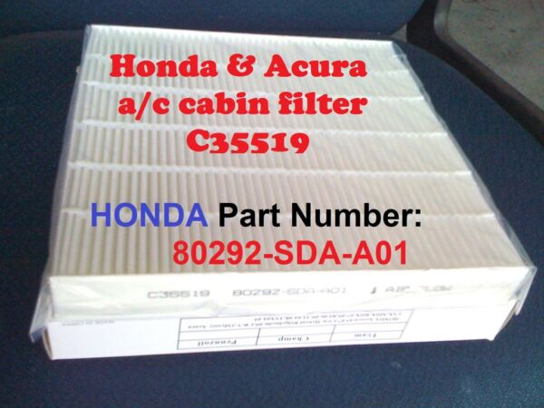 For HONDA ACCORD CABIN AIR FILTER Acura Civic CRV Odyssey C35519 HIGH QUALITY $8.50