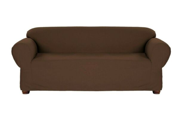 BROWN JERSEY SOFA STRETCH SLIPCOVER COUCH COVER FURNITURE SOFA FREE SHIPPING $17.99