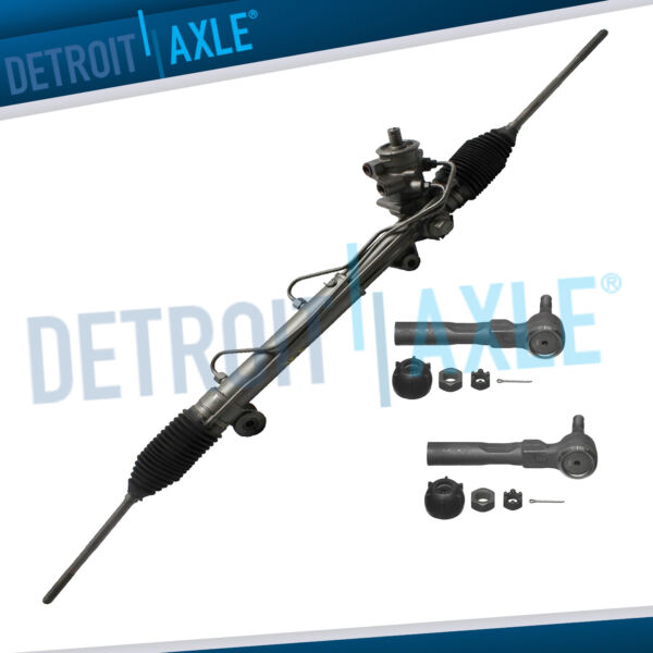 Complete Rack and Pinion 2 NEW Outer Tie Rod for 1995 2005 Cavalier Sunfire $102.60