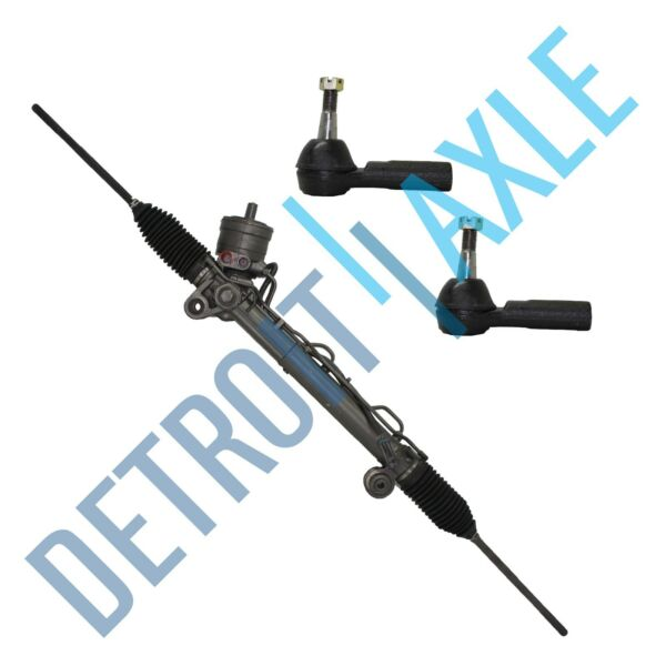 Complete Power Steering Rack and Pinion 2 Outer Tie Rods for Buick Pontiac $159.81