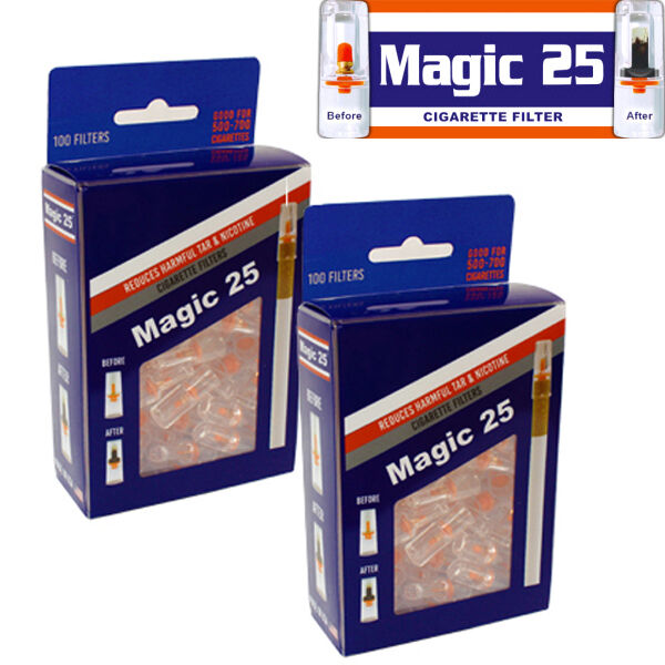 2 x MAGIC25 100 FILTERS VALUE PACK $20.45