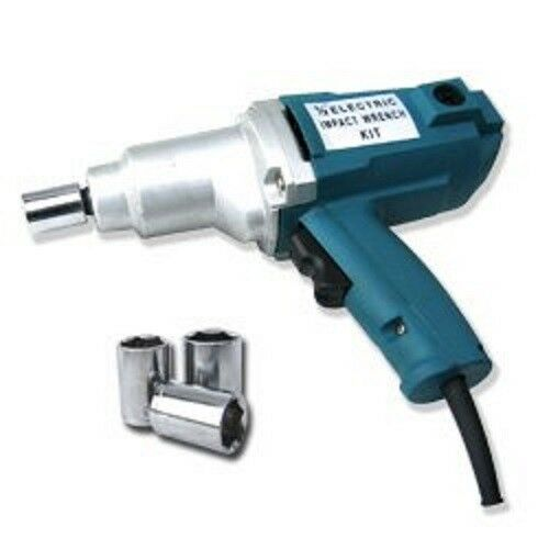 New 1 2quot; Electric Impact Wrench Gun Set w Case amp; Sockets Driver Free Shipping