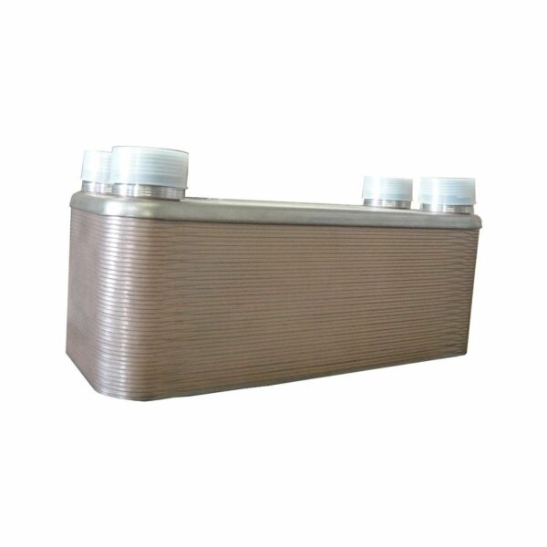 OUTDOOR WOOD FURNACE BOILER BRAZED PLATE HEAT EXCHANGER 40 Plate 1 1 4quot; PORTS $159.99