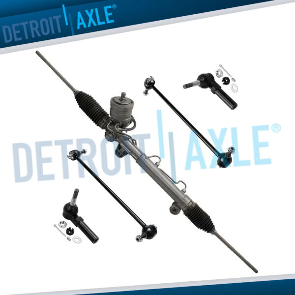 Rack and Pinion W MAGNASTEER 2 Outer Tie Rod 2 Front Sway Bar Links $180.45