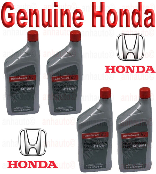 4-Quarts Genuine Honda ATF DW-1 Automatic Transmission Fluid   08200 9008