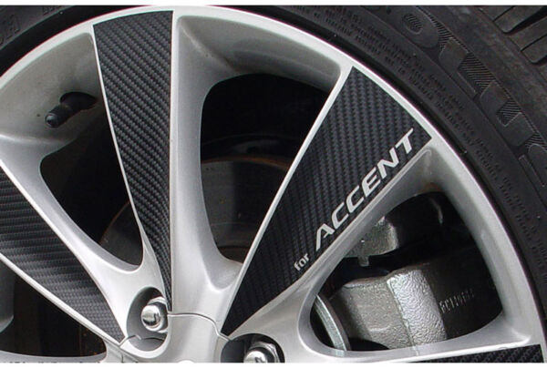 4 wheel Mask Tunning 16quot; Carbon Sticker for 2011 2014 Hyundai Accent Solaris $41.99