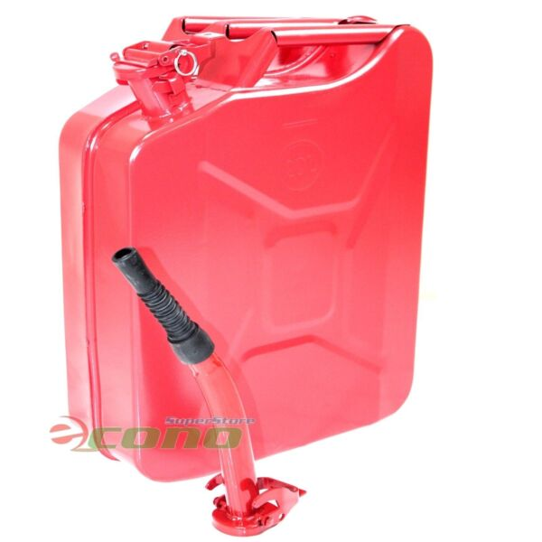 5 Gallon Jerry Can Gas Fuel Steel Tank RED Military Style 20L Storage Can 5G $44.99