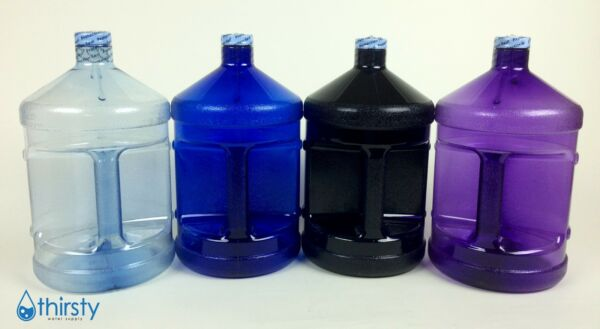 1 Gallon Plastic Water Bottle Polycarbonate Drinking Canteen Jug Colors H2O